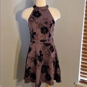 Purple and Black floral dress NWT